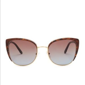 New Brian Atwood woman's acetate and metal cat eye